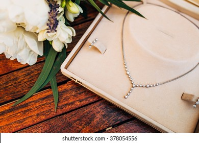 Necklace in case