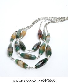 Necklace with crazy agate
