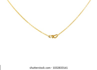 Necklace of jewelry in white background