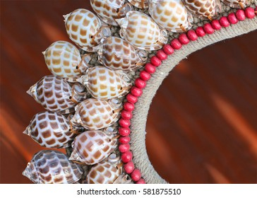 necklace made with sea shells. Handmade
