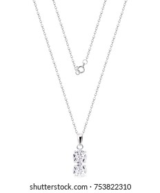 necklace and pendant on white background