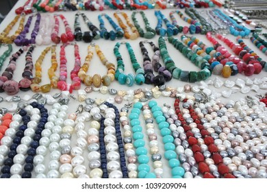 Necklaces at market
