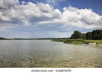 Necko lake in Augustow. Poland