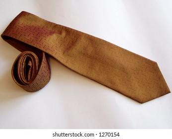 a necktie against white background