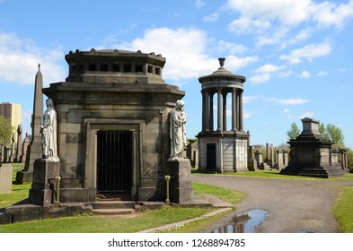 The Necropolis graveyard in Glasgow, Scotland