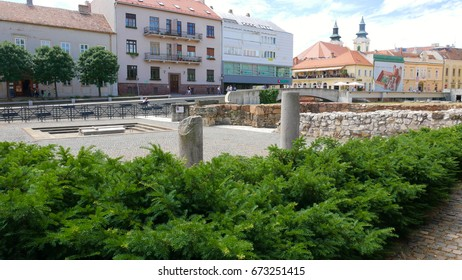 The necropolis of the Hungarian kings in the town of Szekesfehervar - the ruins of a former cathedral destroyed by the Turks,