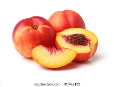Nectarine fruit isolated on white background