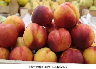 Nectarine fruits background