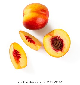 nectarine isolated on white background