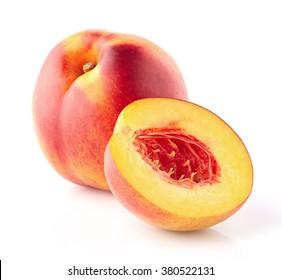 Nectarine with slice