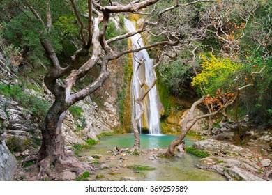 Neda Waterfall in Greece