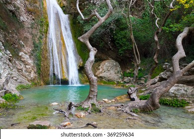 Neda Waterfall in Greece