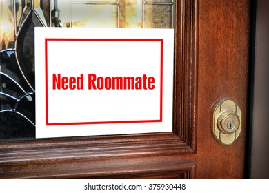 Need roommate sign on modern home.