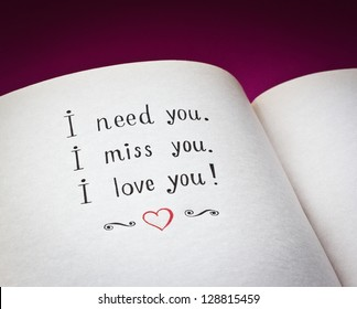 Need You Miss You Love You Stock Photo Edit Now 128815459