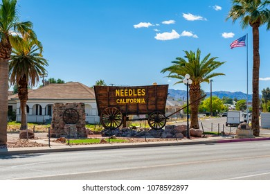 Needles, CA, USA - April 9, 2013: Needles is a city in San Bernardino County, California, USA. It lies near the borders of Arizona and Nevada and has a population of about 4,800.
