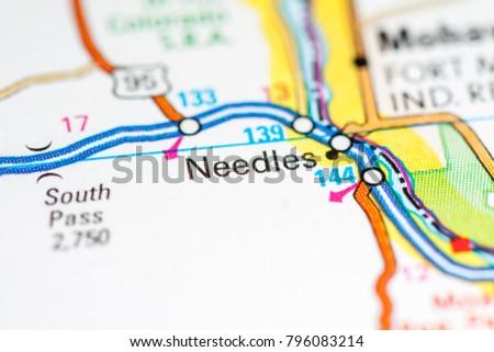 Needles California Usa On Map Stock Photo Edit Now 796083214