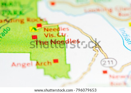 Utah In Usa Map.Needles Utah Usa On Map Stock Photo Edit Now 796079653 Shutterstock