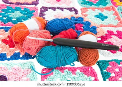 Needlework in many colors with crocket hook