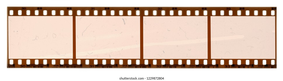 negative film isolated on white background, 35mm film strip