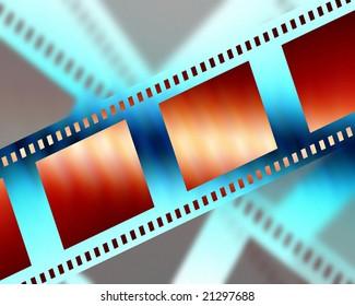 negative film strip on a soft background