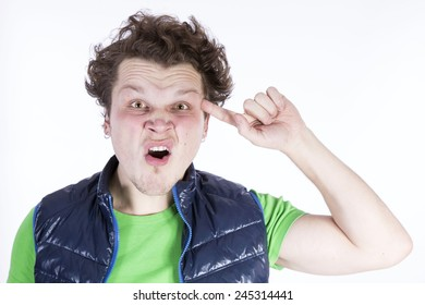 Negative funny angry man