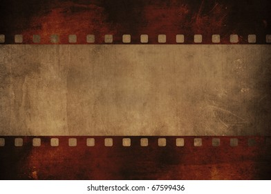 negative grunge film stripe with space for your text