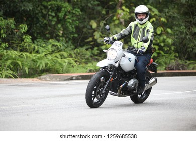 NEGERI SEMBILAN, MALAYSIA - 9 May 2018 : Unidentified people on annual gathering of BMW bikers. Opening of the BMW motorcycle season activity.