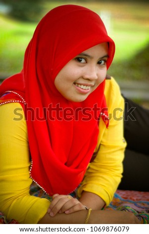 Negeri Sembilan Malaysia November 7 2017 A Cute Young Girl Photo Shot