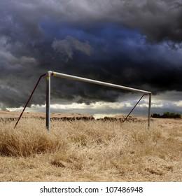 Neglected football field