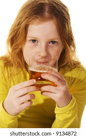 neglected girl is drinking alcohol
