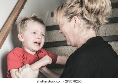 A Neglected lonely child with a violence mother
