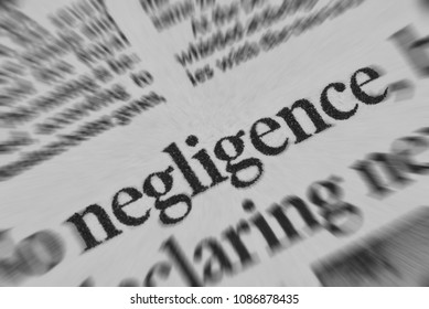 Negligence news headline featured in newspaper
