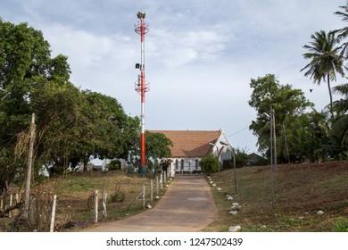 Negombo, Sri Lanka - July 24, 2018: Exterior view of St Stephen Church