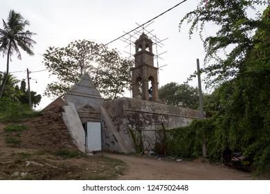 Negombo, Sri Lanka - July 24, 2018: A part of the historic Dutch Fort