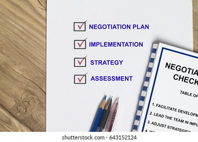 Negotiation checklist on how to win a contract