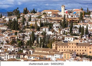 Neighborhood of the Albaicin. Granada, Spain