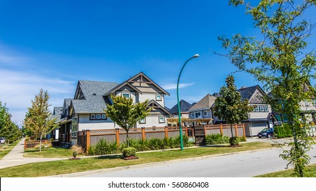 Neighborhood in Surrey, Vancouver, BC, Canada