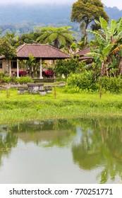 Neighborhood of the Ulun Danu Temple complex at Lake Bratan, Bedugul, Bali