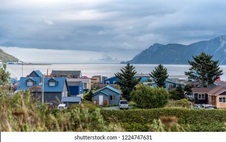 Neighborhood View in Dutch Harbor Unalaska Alaska