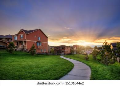 Neighborhood View in Parker Colorado