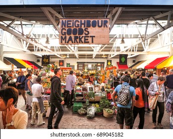 Neighbourgoods Market, this is where you'll get farm fresh and organic foods in The Old Biscuit Mill of Woodstock, Cape Town, South Africa at 12 Nov 2016.