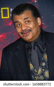 """Neil deGrasse Tyson arrives at the Los Angelos premiere of National Geographic's """"Cosmos: Possible Worlds"""" at Roycr Hall, UCLA in Westwood, California on Feb.26, 2020."""