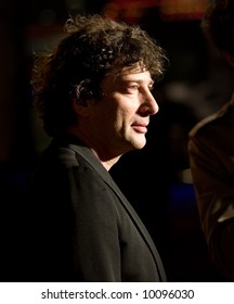 Neil Gaiman at the european premiere of 'Beowulf' at the Vue cinema on November 11, 2007, London, England.