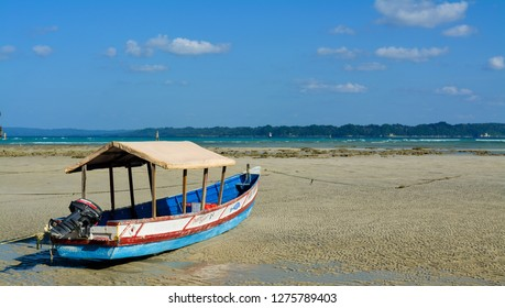 Neil Island, India - November 30, 2018: Bharatpur beach on Neil Island, part of Andaman & Nicobar Islands in India