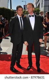 Neil Patrick Harris & David Burtka (left) at the 2010 Creative Arts Emmy Awards at the Nokia Theatre L.A. Live. August 21, 2010  Los Angeles, CA Picture: Paul Smith / Featureflash