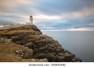 Neist Point lighthouse, Isle of Skye in Scotland