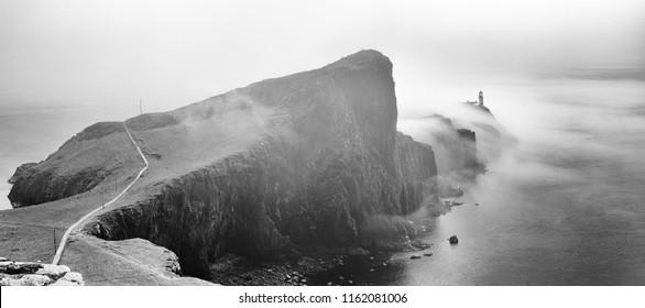 Neist Point Lighthouse on the of Skye in Scotland