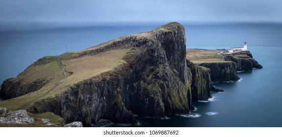 Neist point lighthouse in Scotland