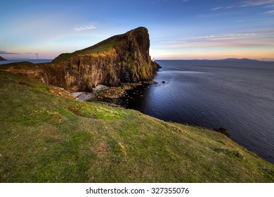 Neist Point on the Isle of Skye at dusk