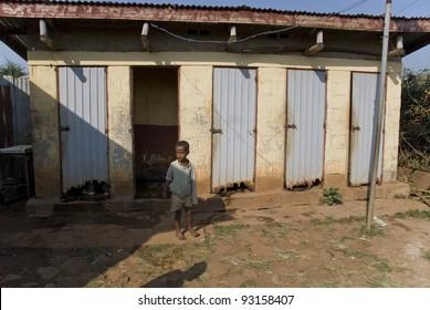 NEKEMPTE - FEBRUARY 6: The outside outside Toilets at Nekemte Hospital in Ethiopia  on February 6, 2009 in Nekempte, Ethiopia.